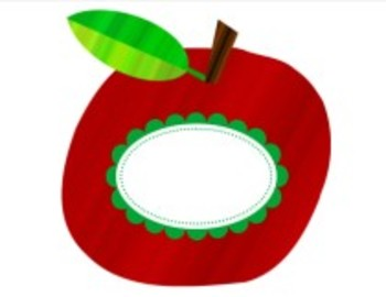 Classroom Decor Primary Apple Cut Outs