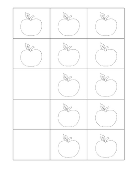 Primary Apple Graph with Apple Coloring Cards