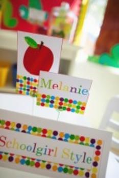 Classroom Decor Primary Apple Multipurpose Labels