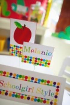 Classroom Decor Primary Apple Nameplates