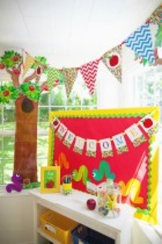 Classroom Decor Primary Apple Pennant Banner