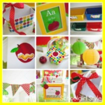Classroom Decor Primary Apple Student Number Tags