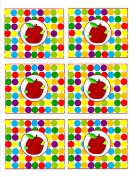 Classroom Decor Primary Apple Tags