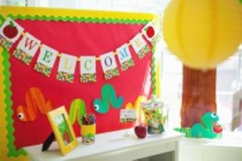 Classroom Decor Primary Apple Welcome Banner
