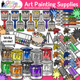 Art Painting Supplies Clipart: Color Theory Graphics {Glitter Meets Glue}