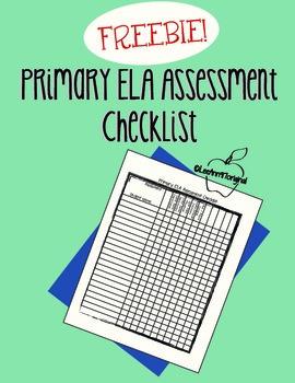 Primary Assessment Checklist FREEBIE