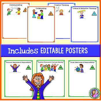 Primary - BC Core Competency Posters {Printable & Editable}