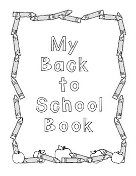 Primary Back to School Book and Coloring Activity