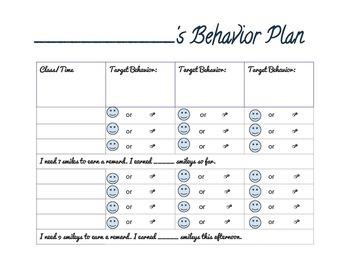 Primary Behavior Plan