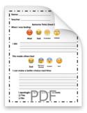 Primary Behavior Think Sheet