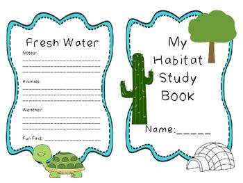 """Primary Biome/Habitat Study: Mini """"Note"""" book"""