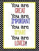 Primary & Black Classroom Quotes
