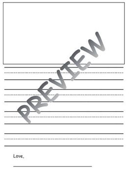 Primary Blank Letter and Picture Template