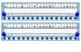 Primary Blue Chevron Desk Reference Nameplates