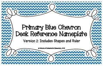 Primary Blue Chevron Desk Reference Nameplates Version 2