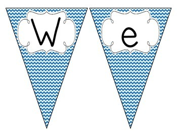Primary Blue Chevron Welcome Pennant