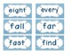 Primary Blue Chevron Word Wall Cards