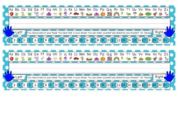 Primary Blue Polka Dot Desk Reference Nameplates