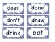 Primary Blue Zebra Print Word Wall Cards