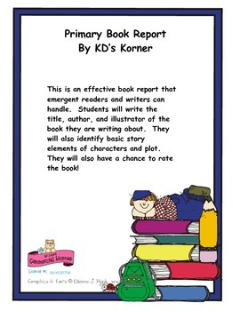 Primary Book Report