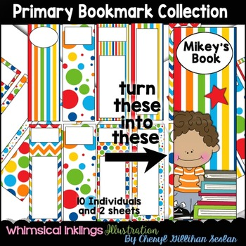 Primary Bookmark Clipart Collection