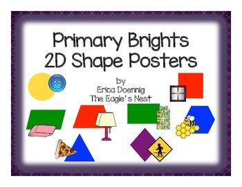 Primary Brights 2D Shape Cards