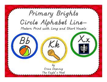 Primary Brights Circle Alphabet Line--Modern Handwriting