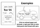 """Primary Bus Tags - Back to School """"How We Get Home"""""""