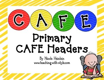 Primary CAFE Headers {CAFE FREEBIE}