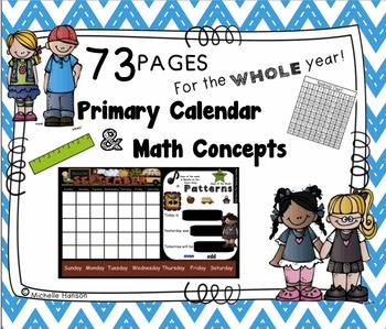 Calendar Math for the SMARTBoard ~ Full Year of Math and Calendar ~ Primary
