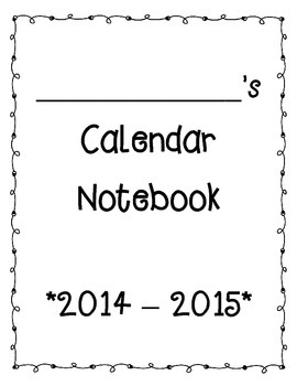Primary Calendar Packet