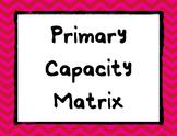 Primary Capacity Matrix