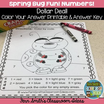 Color By Numbers Spring Bug Fun Know Your Numbers - Dollar Deal
