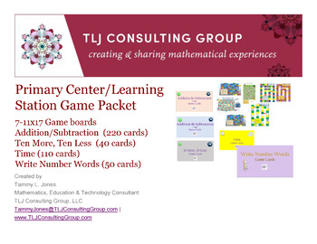 Primary Center/Learning Station Games and Game Cards