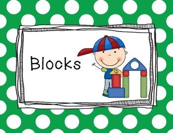 Polka Dot Primary Center Signs