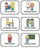 Learning Centres - Icon Cards and Matching Centre Signs &