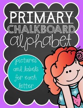 Primary Chalkboard Alphabet