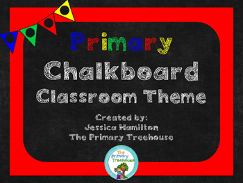 Primary Chalkboard Classroom Theme Decor - EDITABLE!