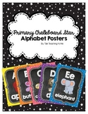 Primary Chalkboard Stars Alphabet Posters
