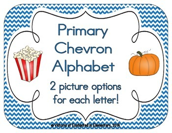 Primary Chevron Alphabet Cards