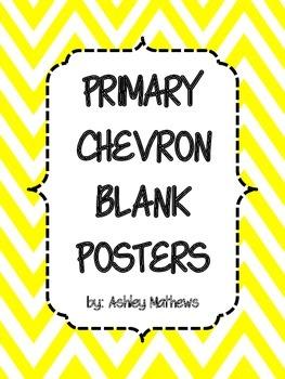 Primary Chevron Border Posters