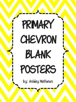 Primary Chevron Border Posters