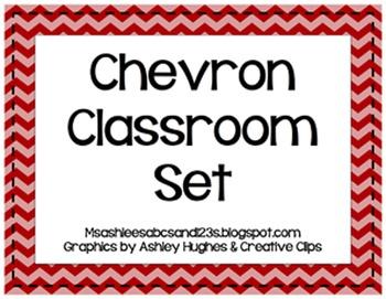 Primary Chevron Classroom Set