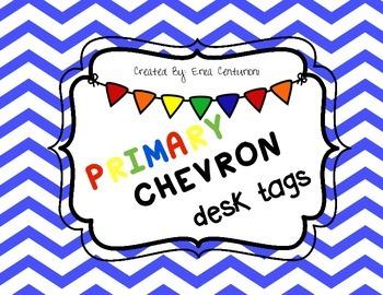 Primary Chevron Desk Tags