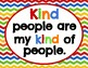 Primary Chevron *Kindness & Anti-Bullying Posters* (12 total)