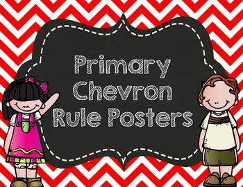 Primary Chevron Rule Posters- Customized for you!