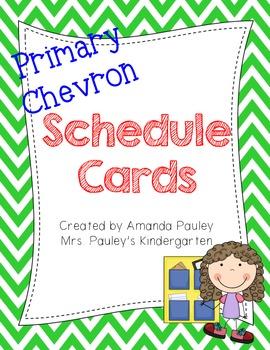 Primary Chevron Schedule Cards