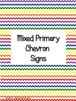 Primary Chevron Signs