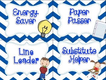 Primary Chevron Themed - Class Job Chart {For the Upper Grades}