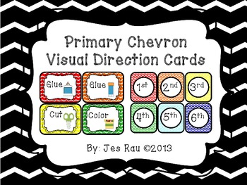 Primary Chevron Visual Direction Cards